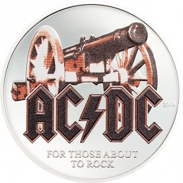 For those about to rock AC/DC 1/2 oz Proof Silver Coin 2$ Cook Islands 2019