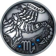 Belarus 2013 20 rubles  Signs of the zodiac Scorpio Antique finish Silver Coin