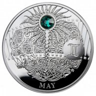 MAY The Magic Stones of Happiness  Proof silver Coin 1$ Niue 2013