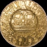 Inca Sun God 1 oz Silk finish Silver Coin 5$ Palau 2021