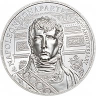 Napoleon 200th Anniversary 2 oz Proof Silver Coin 2 pounds Saint Helena 2021