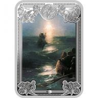 Andorra 2013 5 diners  Jesus walks on Water The Wonders of Jesus Proof Silver Coin