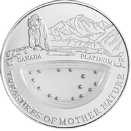 Fiji 2012 1$ Canada - Platinum Treasures of Mother Nature Proof Silver Coin