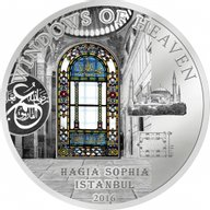 Cook Islands 2016 10$ Hagia Sophia Windows Of Heaven 50 g Proof-like Silver Coin