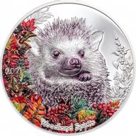 Hedgehog Woodland Spirits 1 oz Proof Silver Coin 500 togrog Mongolia 2021