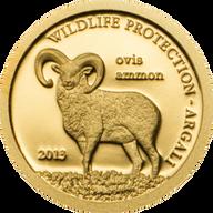Mongolia 2013 500 togrog Argali - Ovis ammon Wildlife Protection Proof Gold Coin