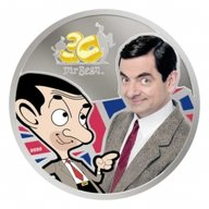 Mr. Bean 30th Anniversary Celebration 1oz Proof Silver Coin 5$ Cook Islands 2020
