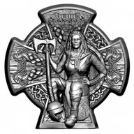 Boudica Warrior Queen 3 oz Antique finish Silver Coin 5 pounds Isle of Man 2020